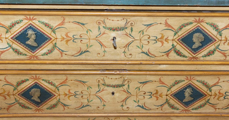 Late 19th Century Italian Painted Commode For Sale 3