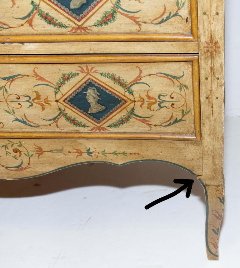 Late 19th Century Italian Painted Commode For Sale 5