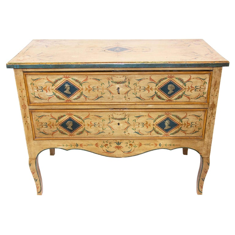 Late 19th Century Italian Painted Commode For Sale
