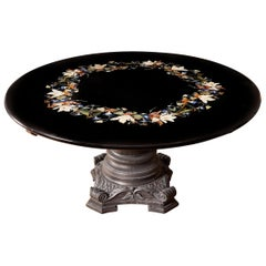 Late 19th Century Italian Pietra Dura Centre Table