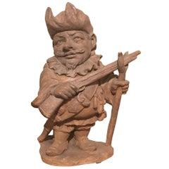 Late 19th Century Italian Terracotta Dwarf Sculpture