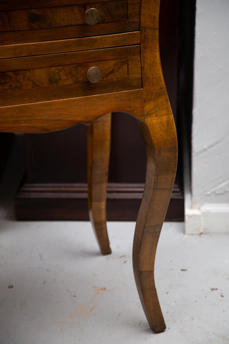 Late 19th Century Italian Walnut Drop Front Desk For Sale 5