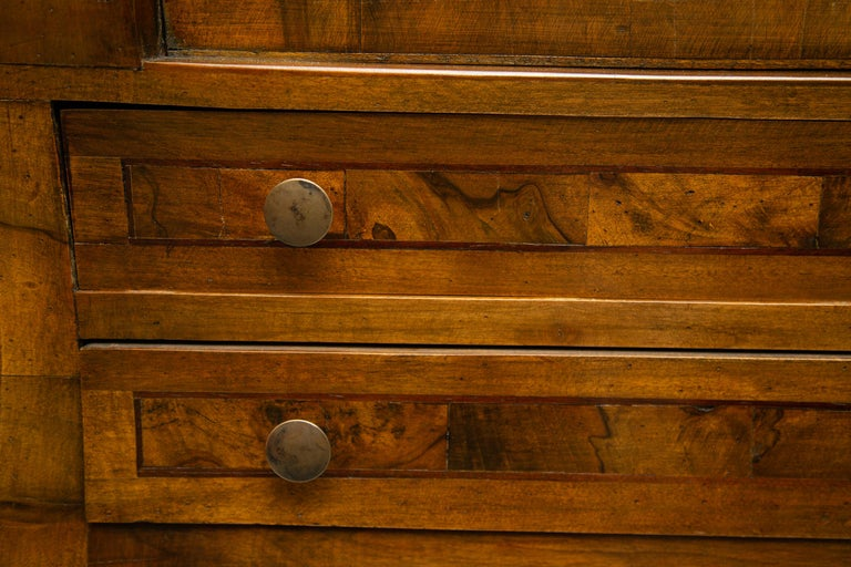 Other Late 19th Century Italian Walnut Drop Front Desk For Sale