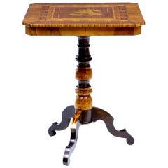 Late 19th Century Italian Walnut Sorrento Occasional Table