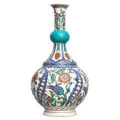 Late 19th-Century Iznik-Style Vase by Samson