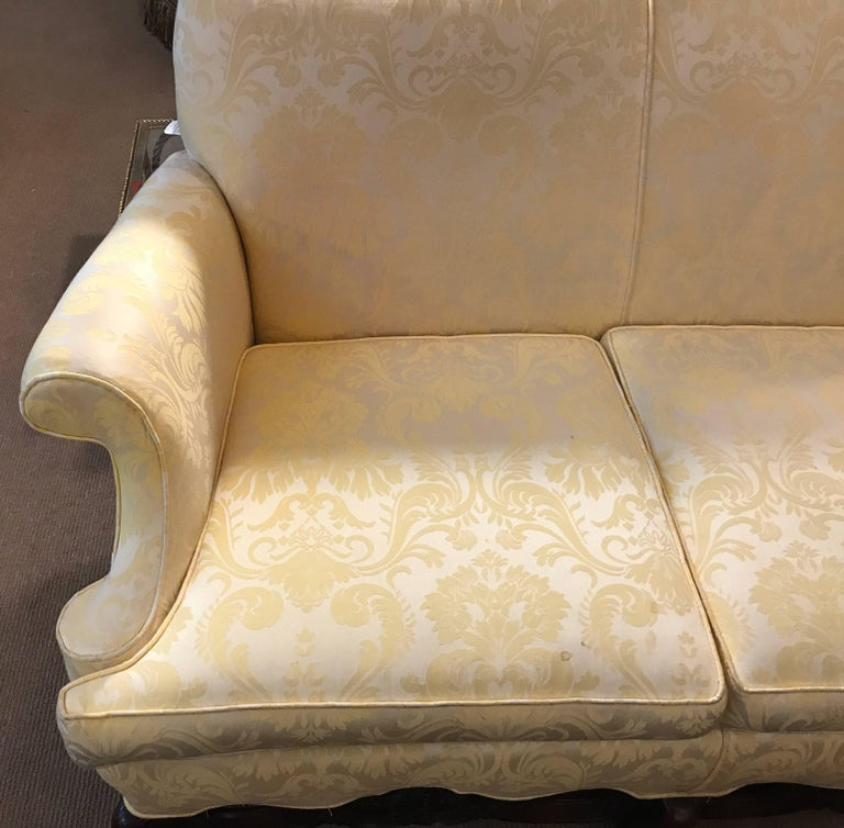 American Late 19th Century Jacobean Style Hand Carved Walnut Sofa For Sale