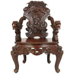 Late 19th Century Japanese Armchair