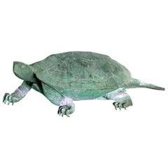 Late 19th Century Japanese Bronze Tortoise, Meiji Period