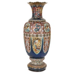 Late 19th Century Japanese Cloisonne Enamel 'Dragon' Vase