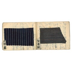 Late 19th Century Japanese Kimono Textile Fabric Sample Book