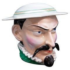 Late 19th Century J.B. Cappellemans Don Quixote Ceramic Tobacco Jar