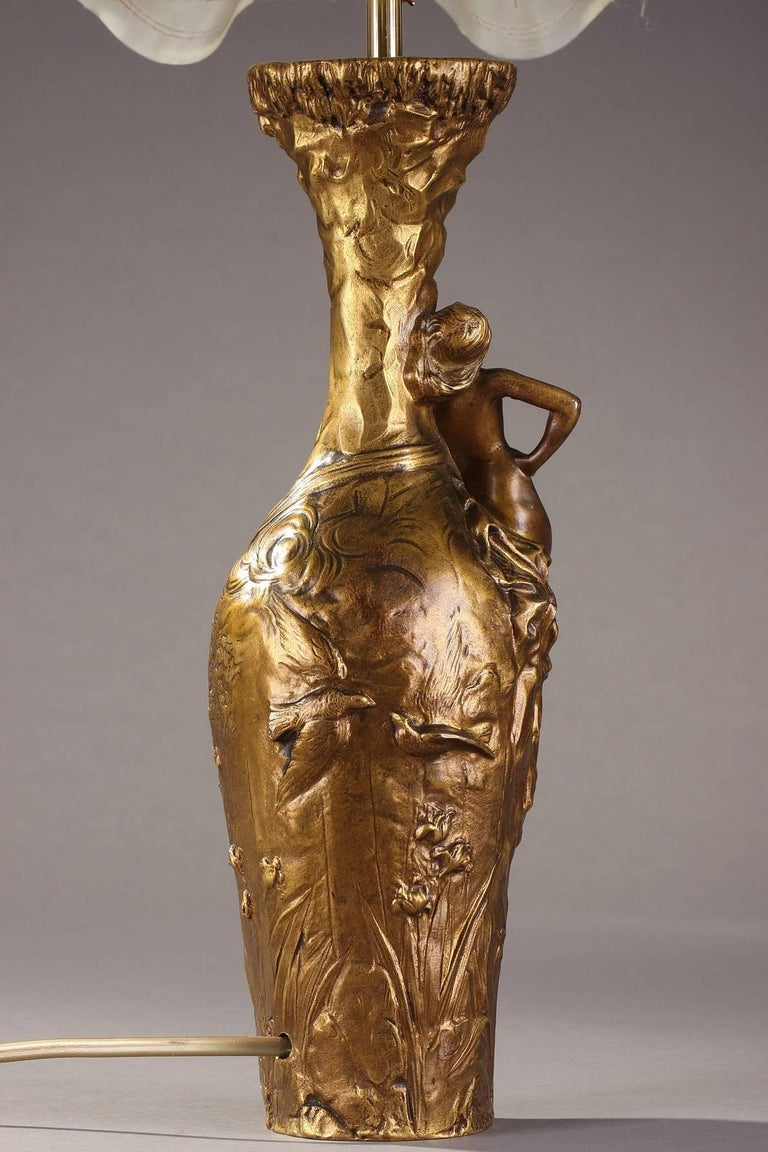 Late 19th Century Jules Meliodon Bronze-Mounted Vase, Louchet Foundry For Sale 1