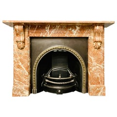 Late 19th Century Languedoc Marble Corbel Fireplace Surround