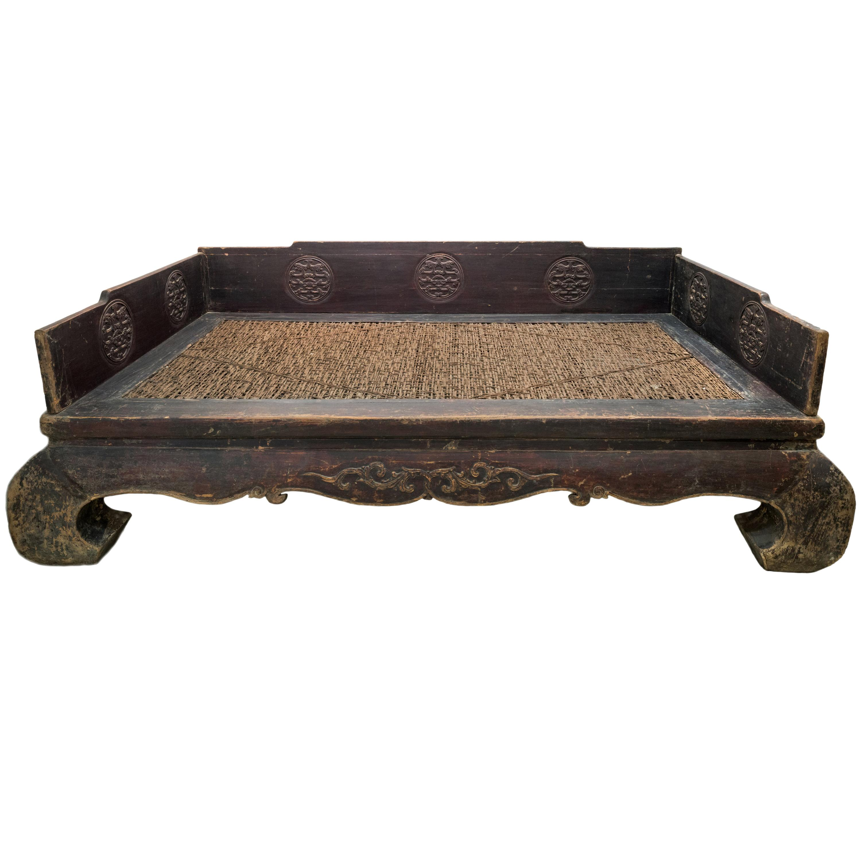 Late 19th Century Large Chinese Daybed