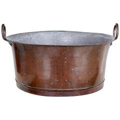 Late 19th Century Large Copper Cooking Vessel