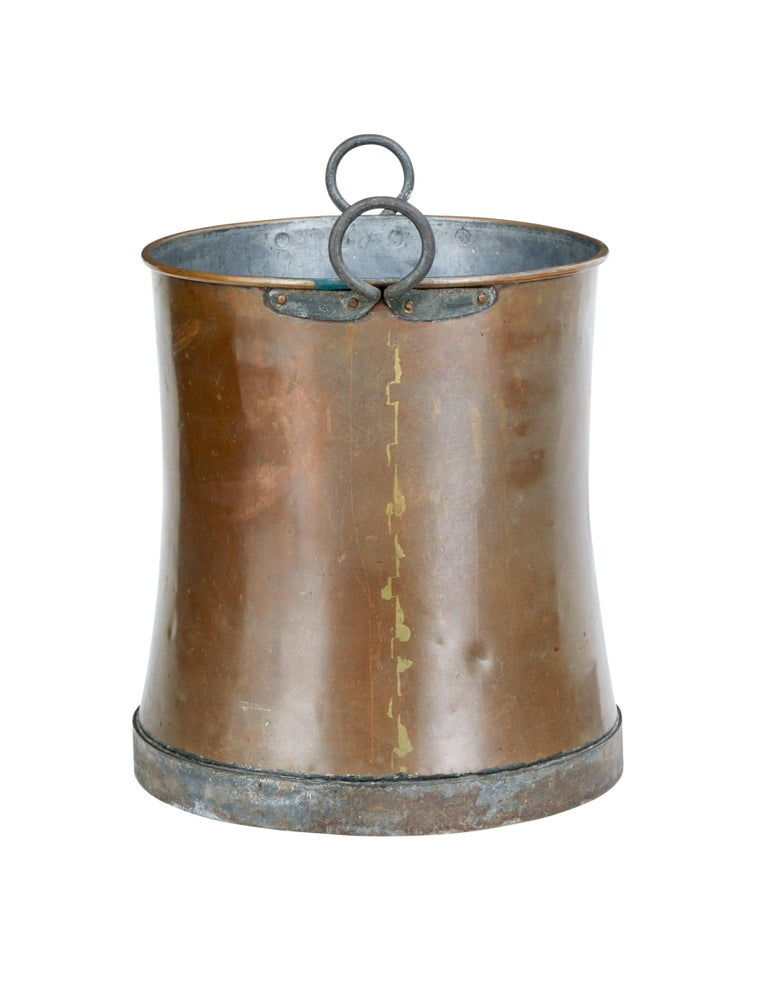 Functional piece of copper Scandinavian arts and crafts wear.