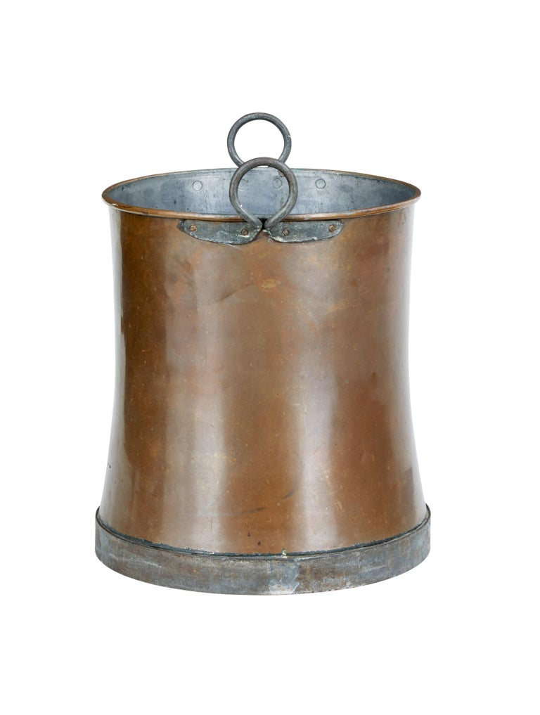Swedish Late 19th Century Large Copper Log Bin For Sale