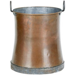 Late 19th Century Large Copper Log Bin