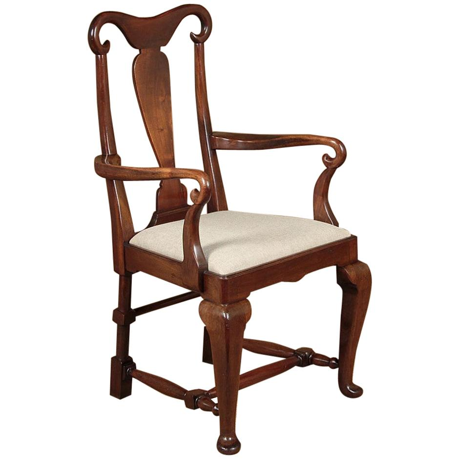 Late 19th Century Large Mahogany Armchair