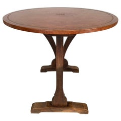 """Late 19th Century Leather and Gilt Tooled """"Vigneron"""" or Vineyard Tasting Table"""