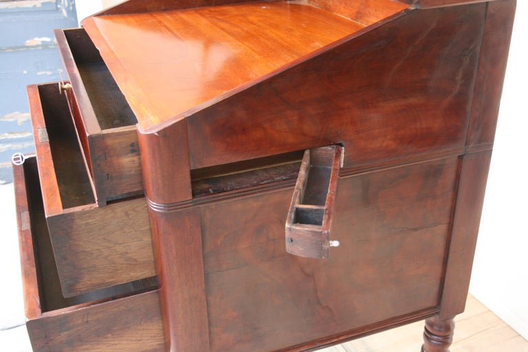 Late 19th Century Lectern / High Desk, Mahogany Shellac Polished For Sale 3