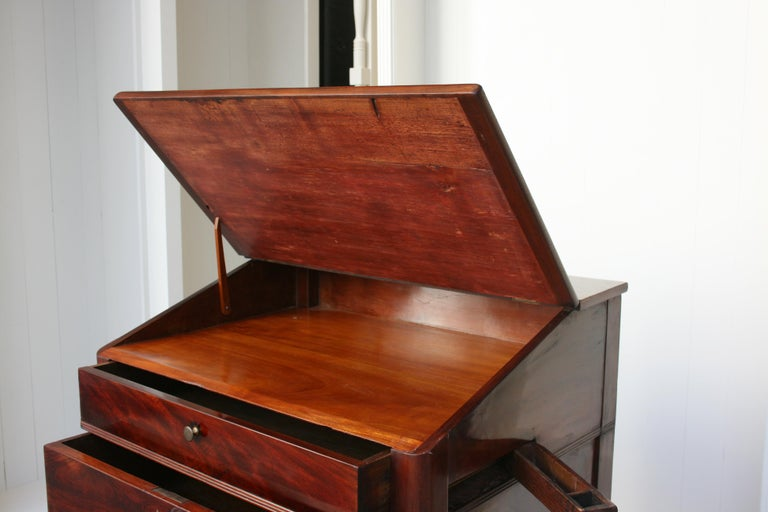 Late 19th Century Lectern / High Desk, Mahogany Shellac Polished For Sale 4