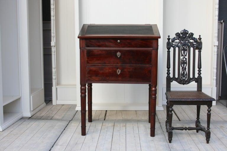 Biedermeier Late 19th Century Lectern / High Desk, Mahogany Shellac Polished