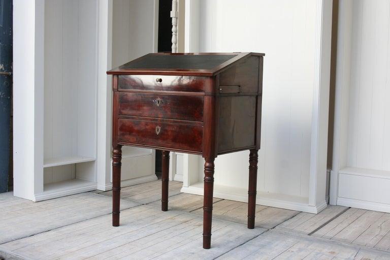 Veneer Late 19th Century Lectern / High Desk, Mahogany Shellac Polished
