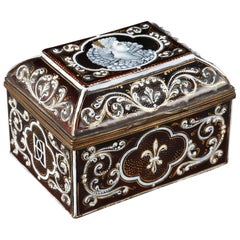 Late 19th Century Limoges Enamel Keepsake Box