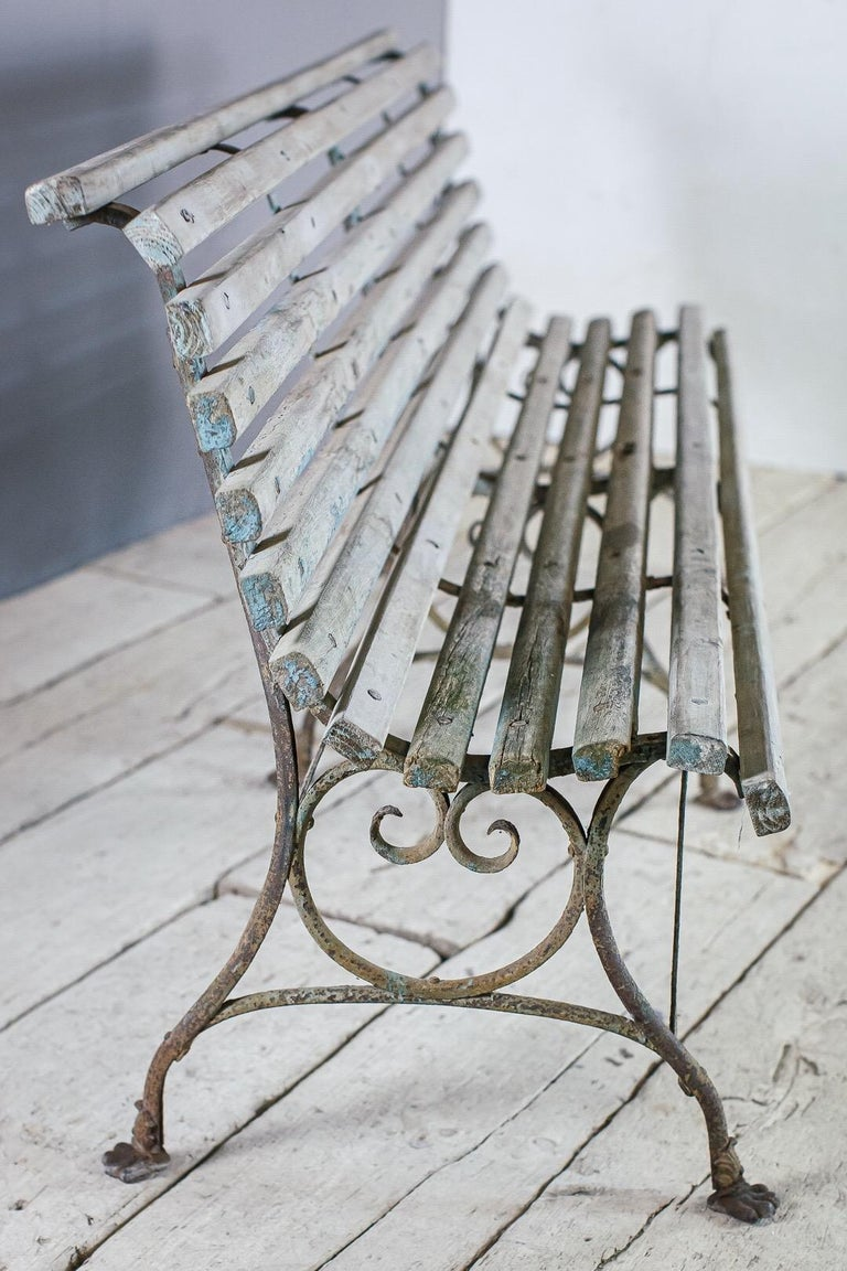 Late 19th Century Lion Paw Arras Bench For Sale 4
