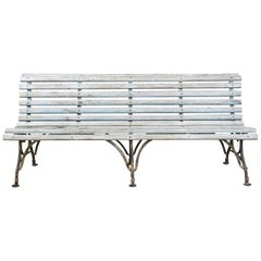 Late 19th Century Lion Paw Arras Bench