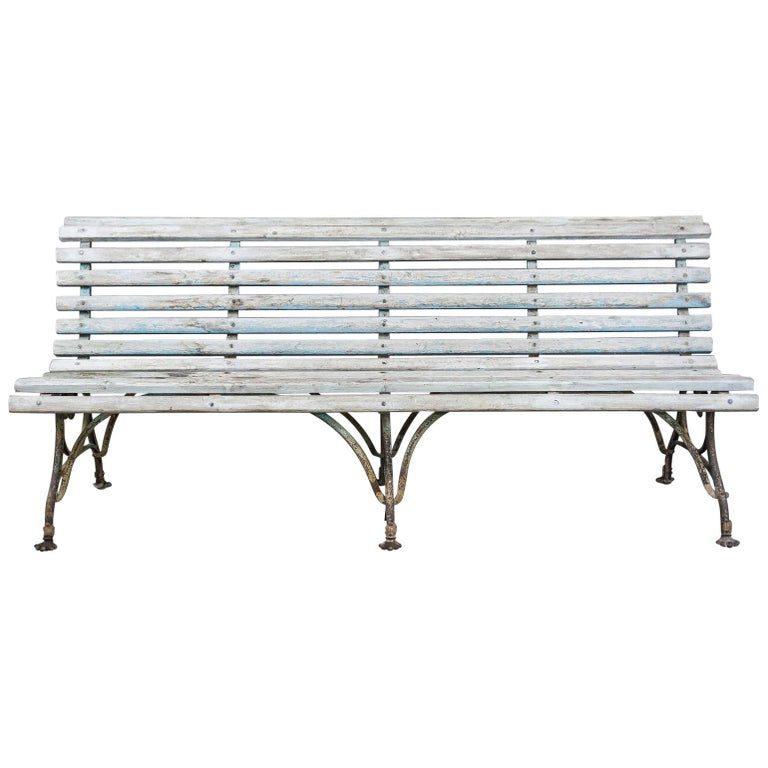 Late 19th Century Lion Paw Arras Bench For Sale