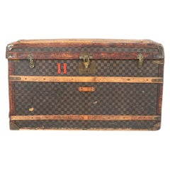Late 19th Century Louis Vuitton Damier Ebene Canvas Steamer Trunk