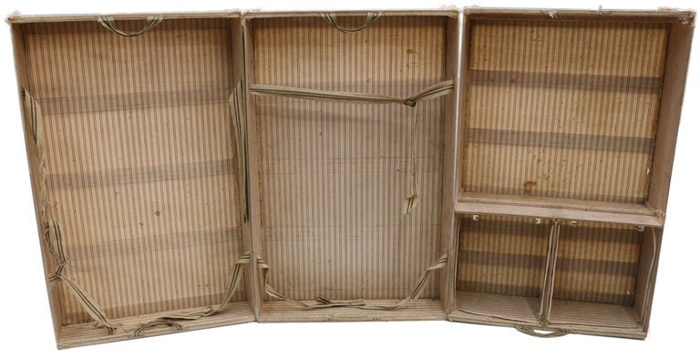 Late 19th Century Louis Vuitton Striped Rayee Canvas Steamer Trunk For Sale 2