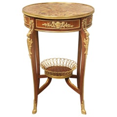 Late 19th Century Louis XV Style Gilt Bronze-Mounted Lamp Table