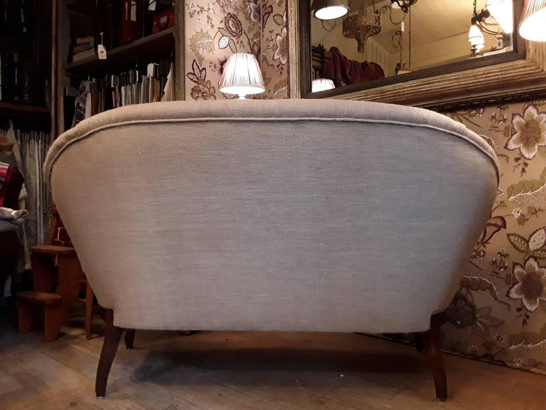Late 19th Century Louis XV Style Italian Living Room Set with New Upholstery