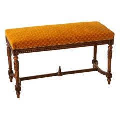 Late 19th Century Louis XVI Style Beechwood Bench or Banquette