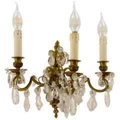 Late 19th Century Louis XVI Style Three-Light Wall Sconce