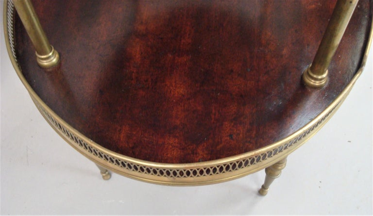 Late 19th Century Mahogany and Brass Oval Étagère  For Sale 7