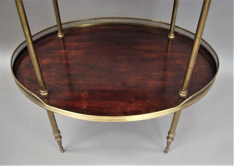 Late 19th Century Mahogany and Brass Oval Étagère  For Sale 10