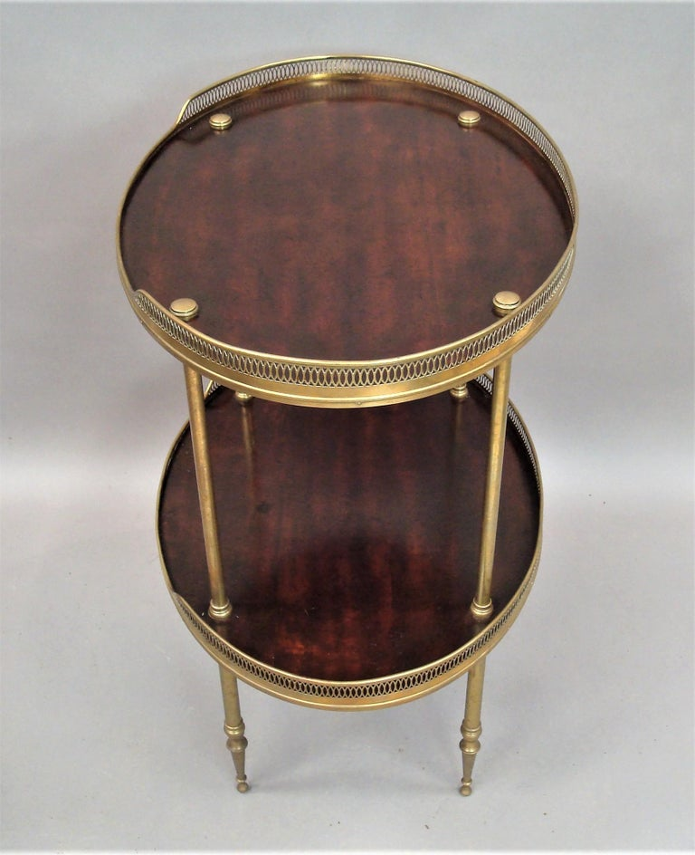 Late 19th Century Mahogany and Brass Oval Étagère  In Good Condition For Sale In Moreton-in-Marsh, Gloucestershire