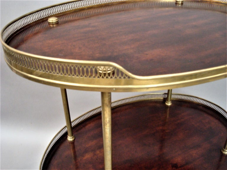 Late 19th Century Mahogany and Brass Oval Étagère  For Sale 4