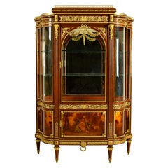 Late 19th Century, Wood and Gilt Bronze French Showcase Vitrine