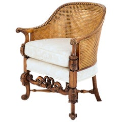 Late 19th Century Mahogany Bergère Chair