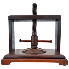 Late 19th Century Mahogany Book Press, English
