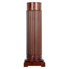 Late 19th Century Mahogany Column Pedestal