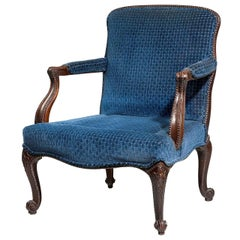 Late 19th Century Mahogany Framed Gainsborough Chair