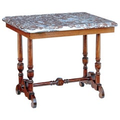Late 19th Century Mahogany Marble-Top Side Table
