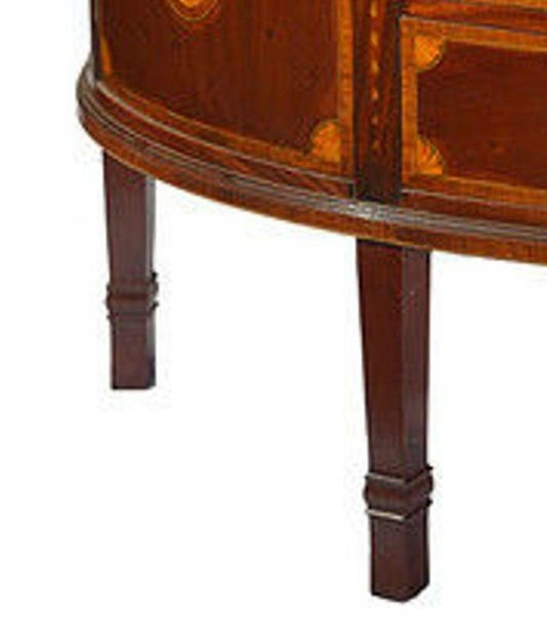 Late 19th Century Mahogany and Satinwood Marquetry Demilune Sideboard For Sale 5