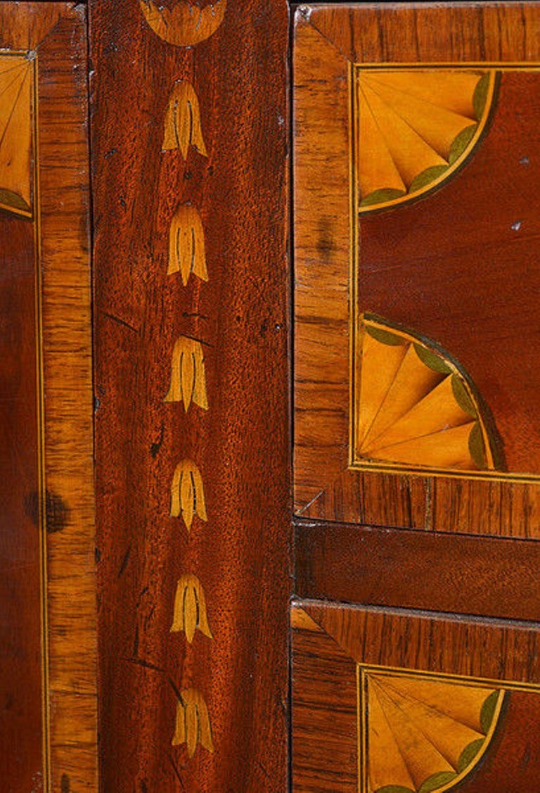 Late 19th Century Mahogany and Satinwood Marquetry Demilune Sideboard For Sale 2